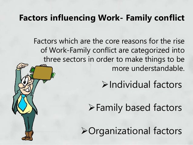 work family conflict and stress Job, family and individual factors as predictors of work-family conflict aminah ahmad empirical evidence also confirms that work-family conflict is often a severe stress factor at work leading to various negative outcomes.