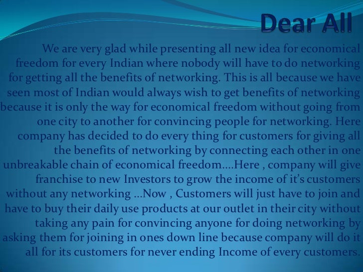 We are very glad while presenting all new idea for economical    freedom for every Indian where nobody will have to do net...