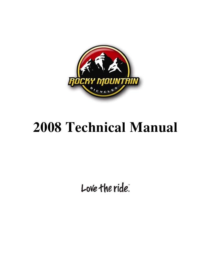 2008 Technical Manual