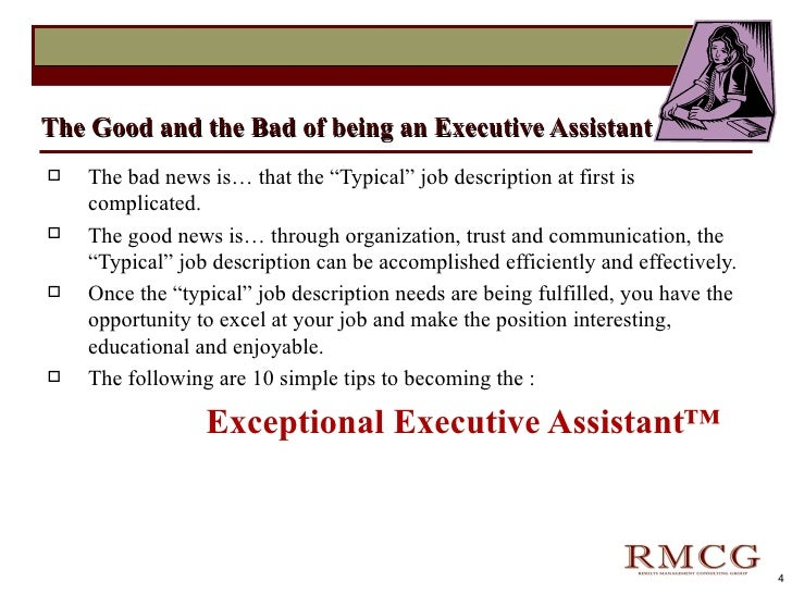 objective for executive assistant
