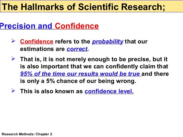 hallmarks of scientific research Research methods chapter 2 the hallmarks of scientific research testability it from science 101 at pioneer institute of computer sciences, jhang.