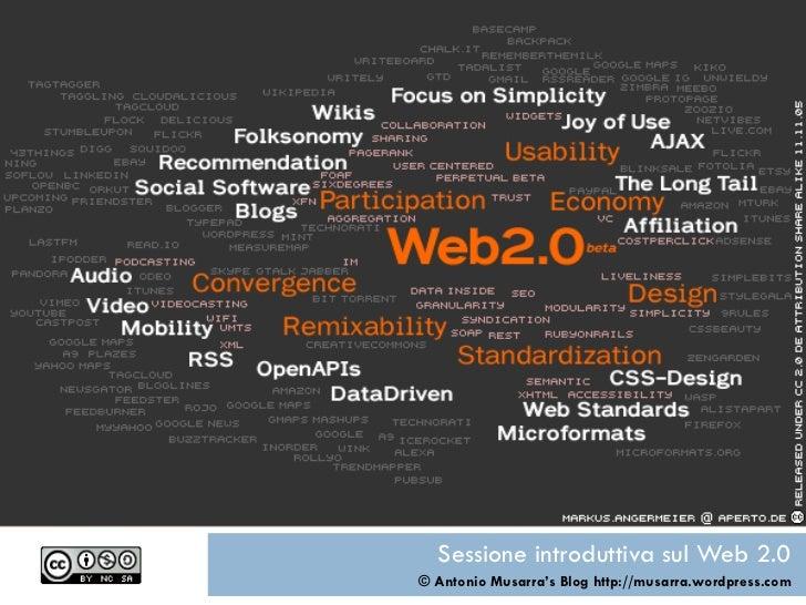 Sessione introduttiva sul Web 2.0 © Antonio Musarra ' s Blog http://musarra.wordpress.com