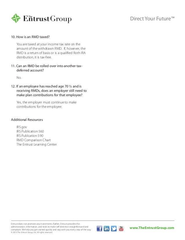 Ira Required Minimum Distribution Faqs