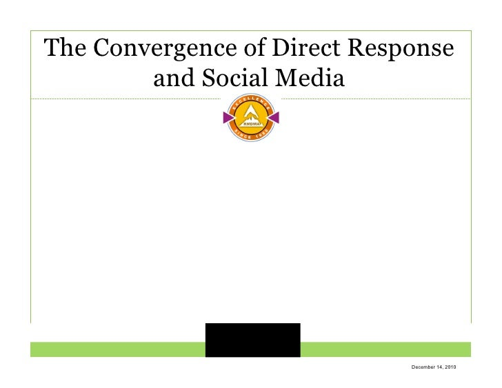 The Convergence of Direct Response         and Social Media