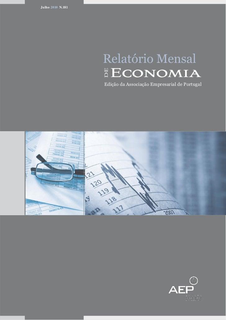 Relatório Mensal de Economia da AEP -