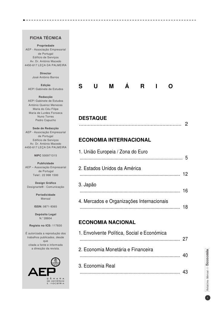 Relatorio economia