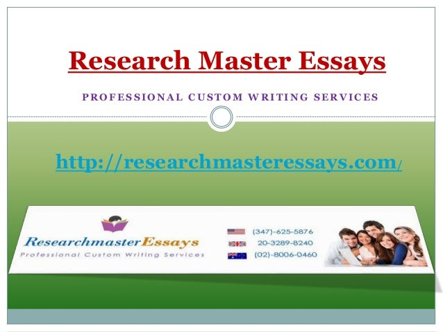 Master papers writing service