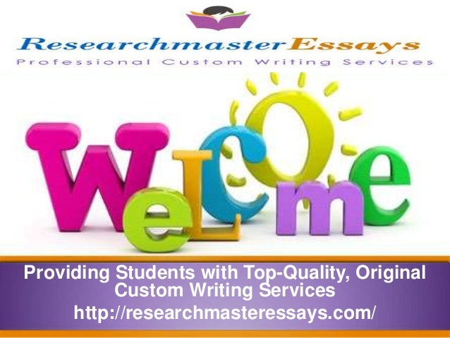 Providing Students with Top-Quality, Original Custom Writing Services http://researchmasteressays.com/