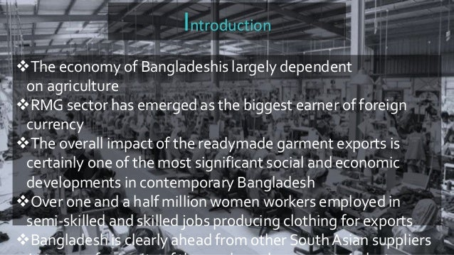 Impacts of rmg sector in bangladesh national economy essay