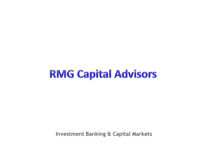 Investment Banking & Capital Markets