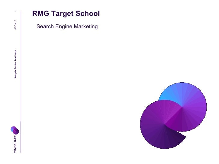 RMG Target School 02/10/10 Sample Footer Text Here Search Engine Marketing