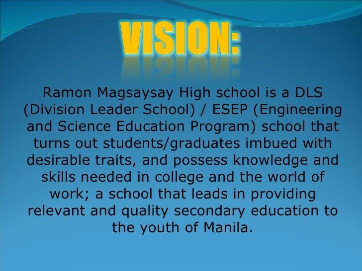 Programs of ramon magsaysay