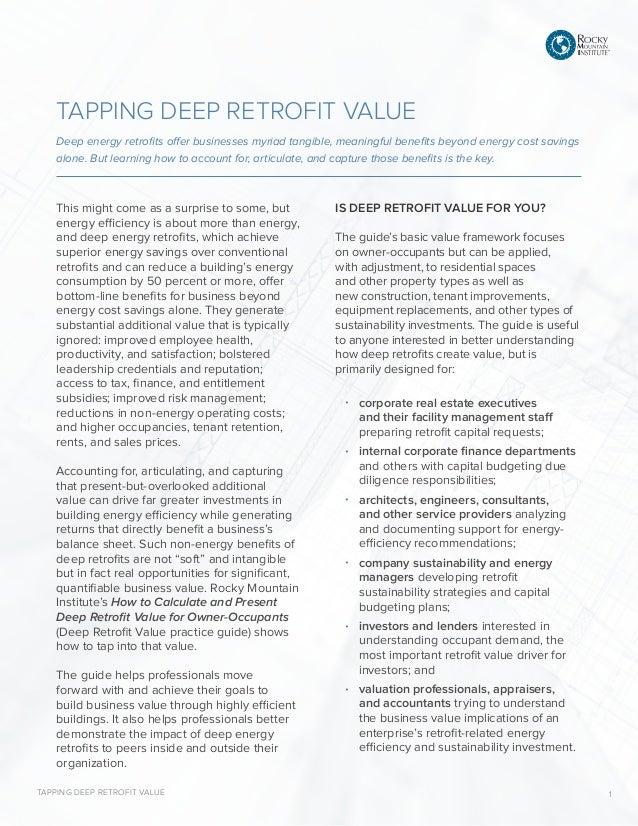 How to Calculate and Present Deep Retrofit Value [Executive
