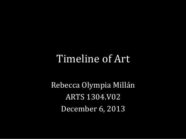 Timeline of Art Rebecca Olympia Millán ARTS 1304.V02 December 6, 2013