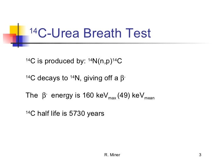 C14 urea breath test