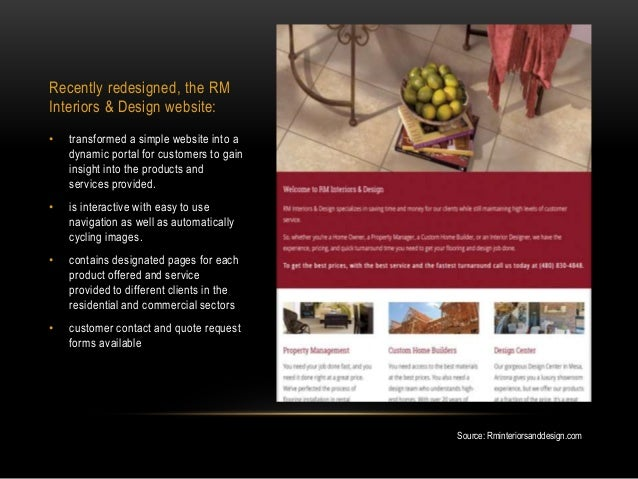 ... 4. Recently Redesigned, The RM Interiors ...