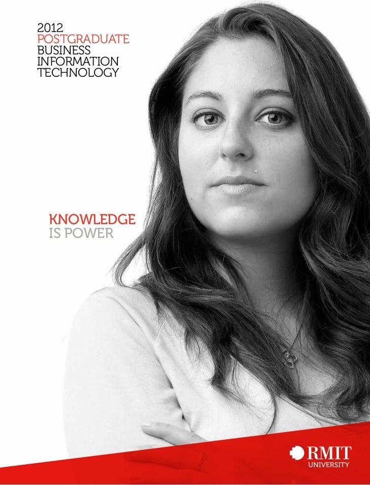 2012postgraduatebusinessinformationtechnology knowledge is power