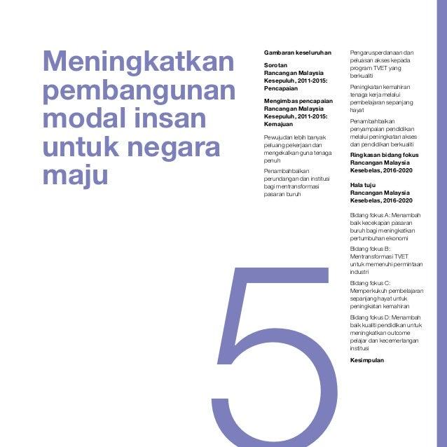 Meningkatkan pembangunan modal insan untuk negara maju Gambaran keseluruhan Sorotan Rancangan Malaysia Kesepuluh, 2011-201...
