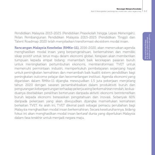Rancangan Malaysia Kesebelas Bab 5: Meningkatkan pembangunan modal insan untuk negara maju 5-2 Pendidikan Malaysia 2013-20...