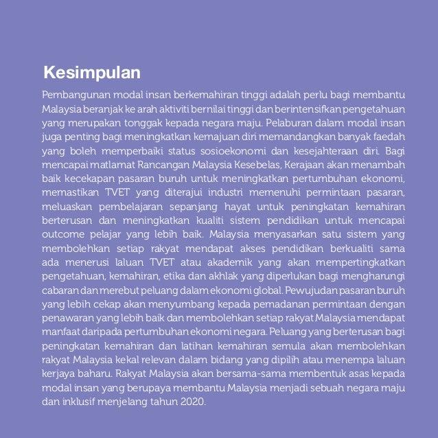 Rancangan Malaysia Kesebelas Bab 5: Meningkatkan pembangunan modal insan untuk negara maju 5-34 Kesimpulan Pembangunan mod...
