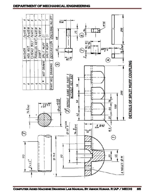 COMPUTER AIDED MACHINE DRAWING LAB MANUAL