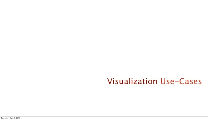 Visualization Use-Cases                                        36     Tuesday, July 6, 2010