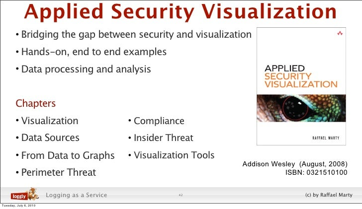 Applied Security Visualization         • Bridging the gap between security and visualization         • Hands-on, end to en...