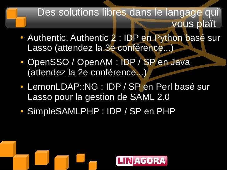 Des solutions libres dans le langage qui                                     vous plaît●   Authentic, Authentic 2 : IDP en...