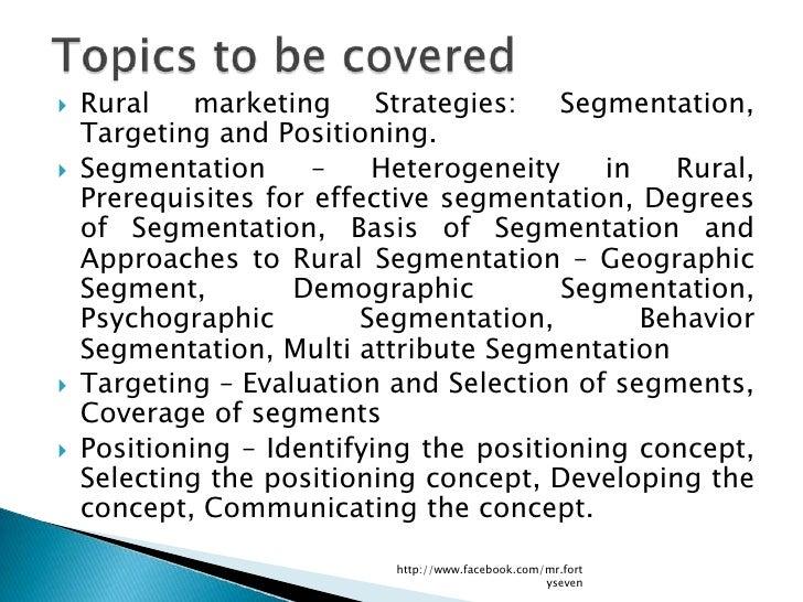 Rural Marketing Strategies Slide 2