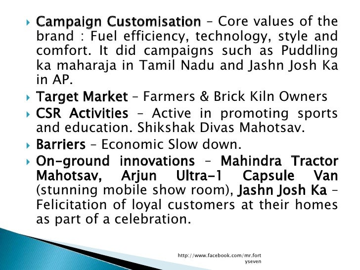    Campaign Customisation – Core values of the    brand : Fuel efficiency, technology, style and    comfort. It did campa...