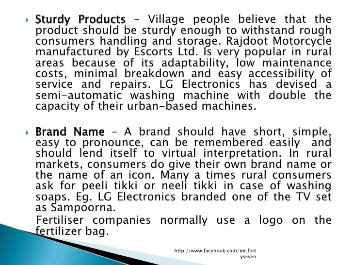    Sturdy Products – Village people believe that the    product should be sturdy enough to withstand rough    consumers h...