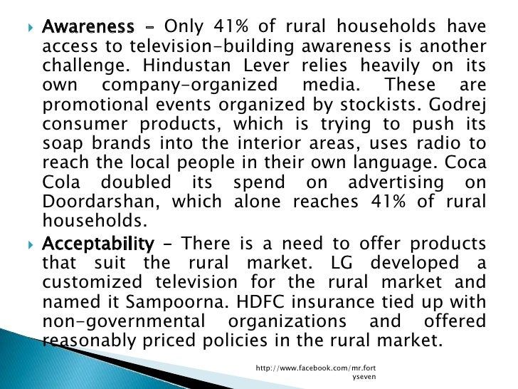 the rural strategies of godrej consumer products marketing essay After witnessing faster growth in the rural markets, godrej consumer  the  products and want to get the right proposition and marketing mix and.