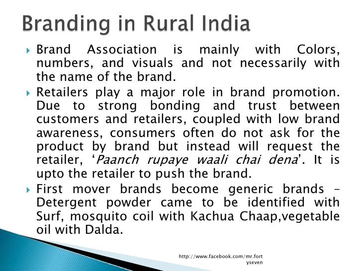    Brand Association is mainly with Colors,    numbers, and visuals and not necessarily with    the name of the brand.  ...