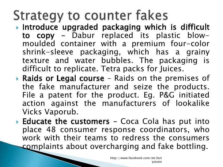    Introduce upgraded packaging which is difficult    to copy – Dabur replaced its plastic blow-    moulded container wit...