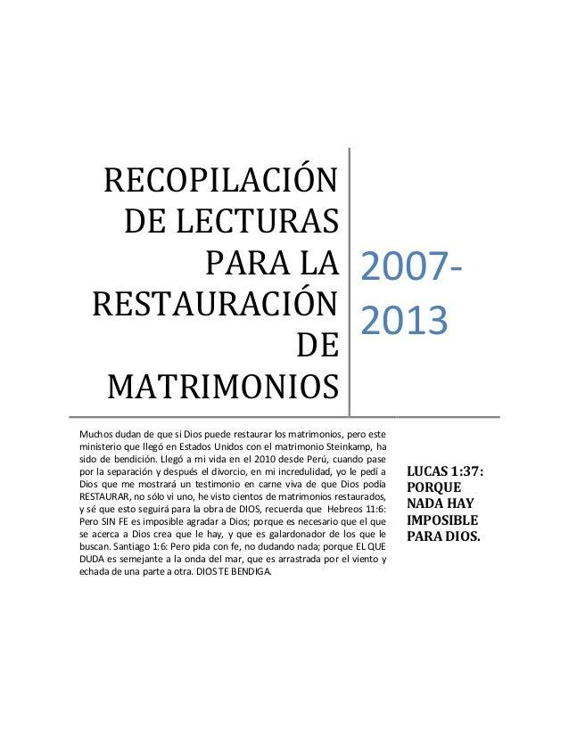 Restaurar Matrimonio Biblia : Que hacer en un divorcio explicaciones testimonios y mas