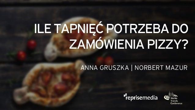 ILETAPNIĘĆPOTRZEBADO ZAMÓWIENIAPIZZY? ANNA GRUSZKA | NORBERT MAZUR