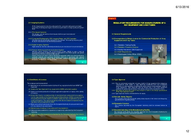 6/13/2016 12 2.4 Imaging Systems All the imaging systems including radiographic film, computed radiography and digital pro...