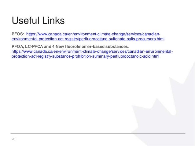 Risk Management of Per- and Polyfluoroalkyl substances in Canada