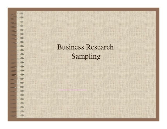 Business Research Sampling