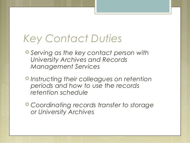 records management duties
