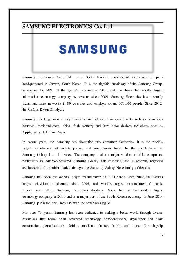 Samsung Electronics Case Analysis Essay