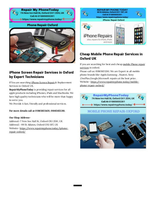 Mobile Phone Repair Services Oxford
