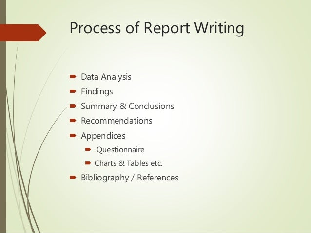 bibliography in research report