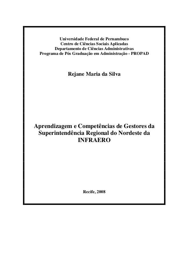 Universidade Federal de Pernambuco Centro de Ciências Sociais Aplicadas Departamento de Ciências Administrativas Programa ...