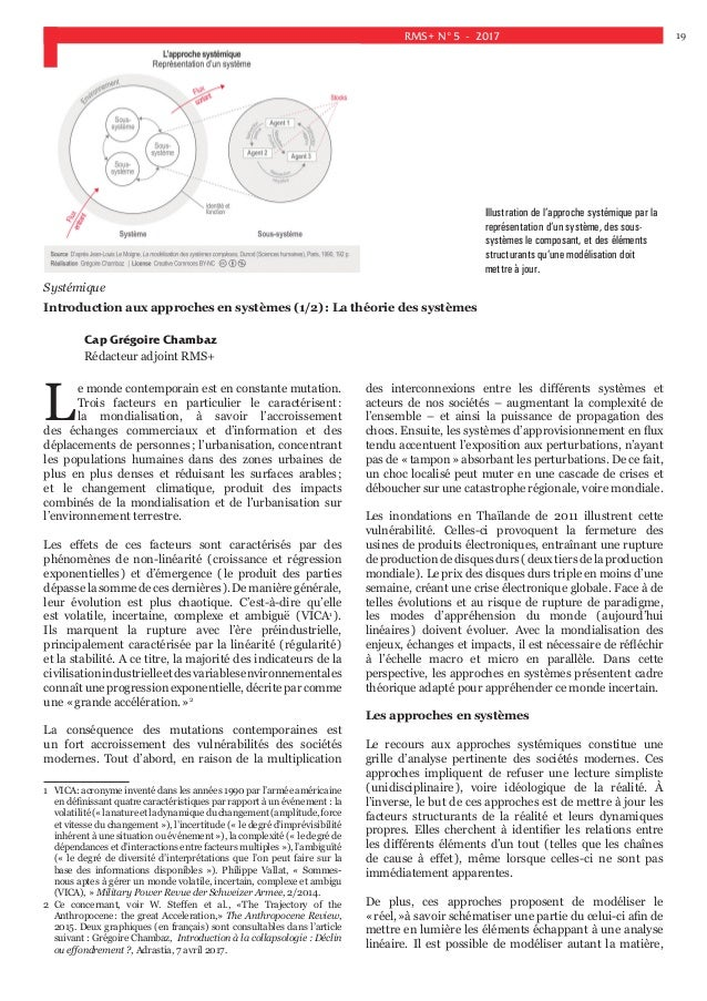 Systemique Pensee Complexe Resilience
