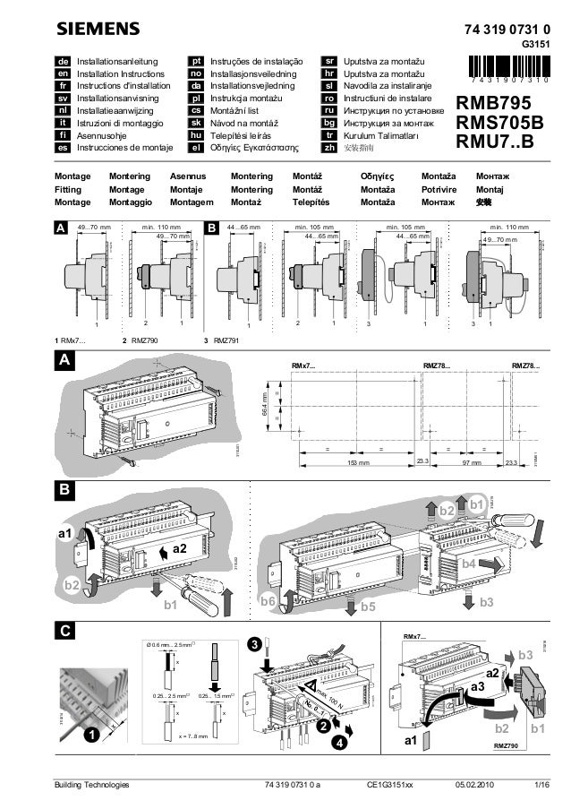 74 319 0731 0 G3151 de Installationsanleitung pt Instruções de instalação sr Uputstva za montažu en Installation Instructi...