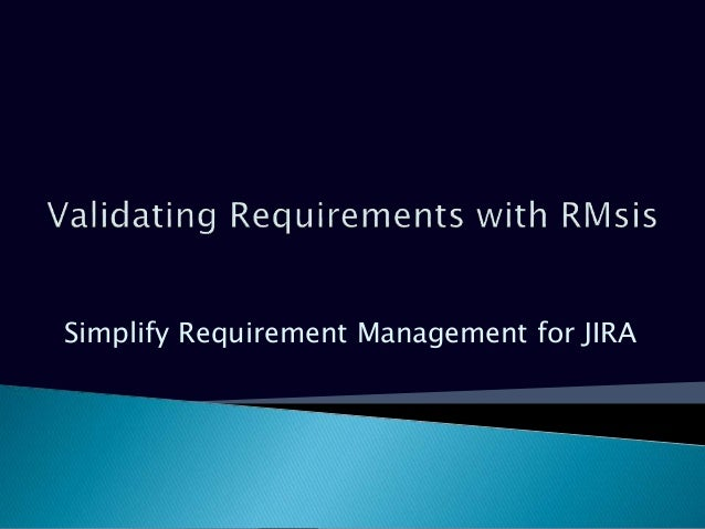 Simplify Requirement Management for JIRA