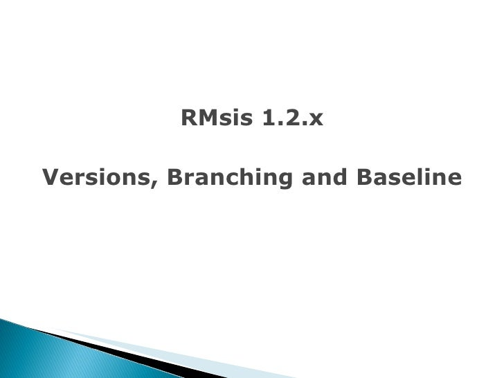 RMsis 1.2.x Versions, Branching and Baseline