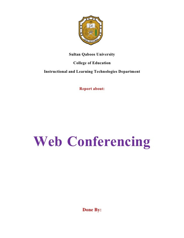 Sultan Qaboos University                  College of Education   Instructional and Learning Technologies Department       ...
