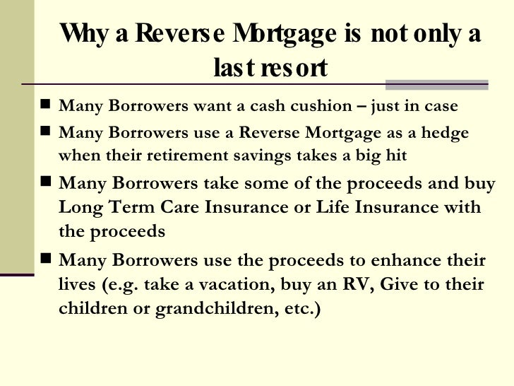 Reverse Mortgage Truth